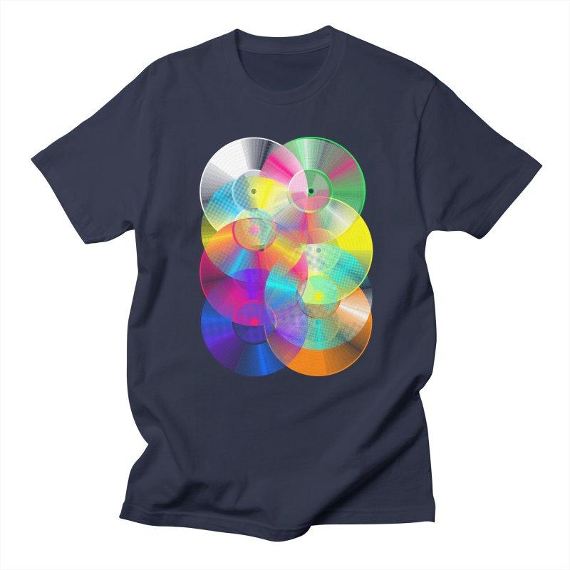 Retro neon colors vinyl Men's Regular T-Shirt by clingcling's Artist Shop