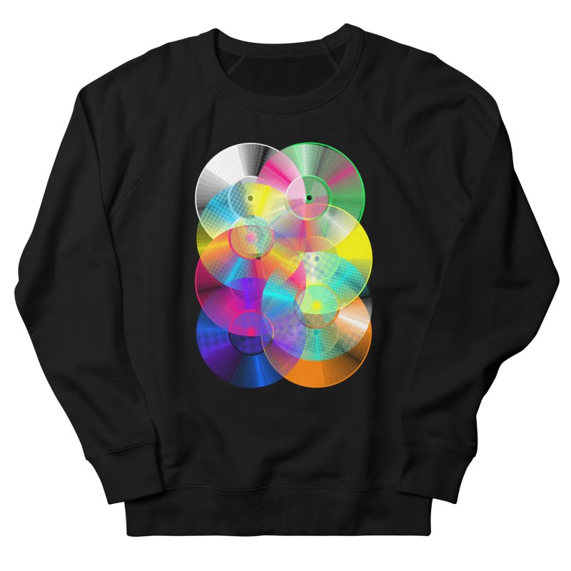 Retro neon colors vinyl Women's French Terry Sweatshirt by clingcling's Artist Shop