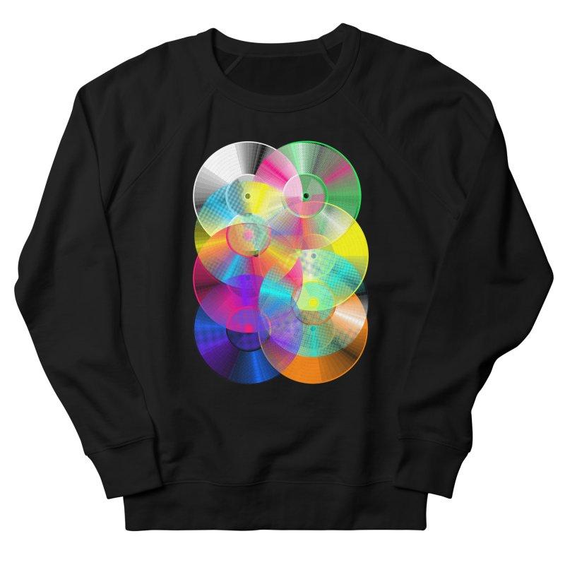 Retro neon colors vinyl Men's French Terry Sweatshirt by clingcling's Artist Shop