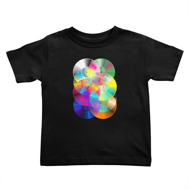 Retro neon colors vinyl Kids Toddler T-Shirt by clingcling's Artist Shop