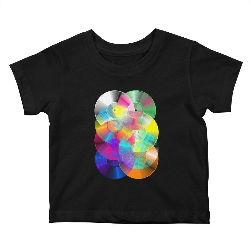 Retro neon colors vinyl Kids Baby T-Shirt by clingcling's Artist Shop