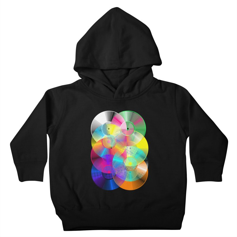 Retro neon colors vinyl Kids Toddler Pullover Hoody by clingcling's Artist Shop