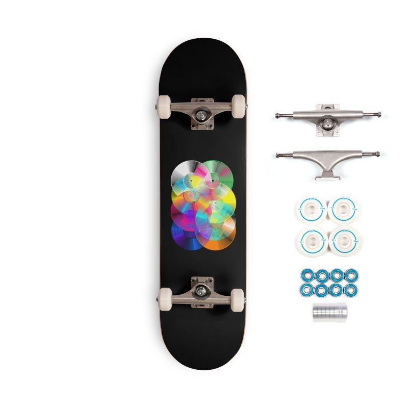 Retro neon colors vinyl Accessories Complete - Basic Skateboard by clingcling's Artist Shop
