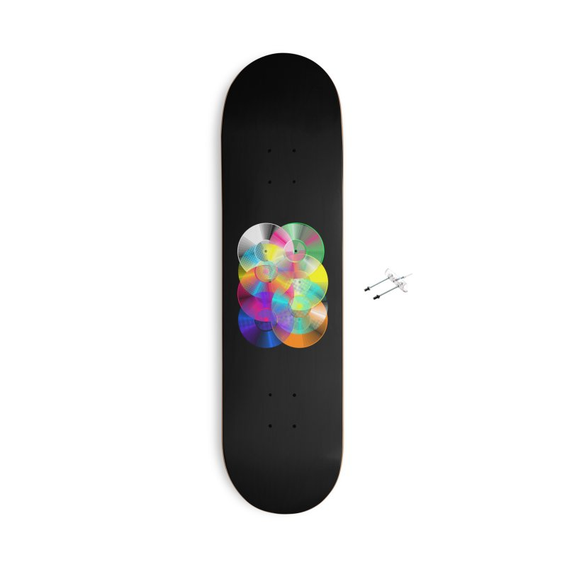 Retro neon colors vinyl Accessories With Hanging Hardware Skateboard by clingcling's Artist Shop