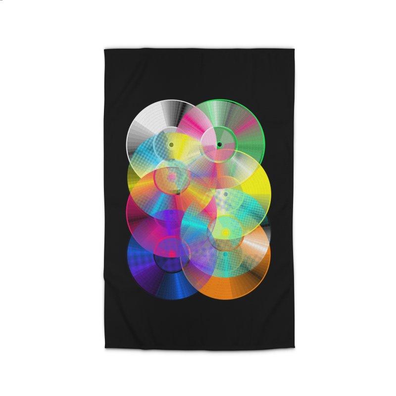 Retro neon colors vinyl Home Rug by clingcling's Artist Shop