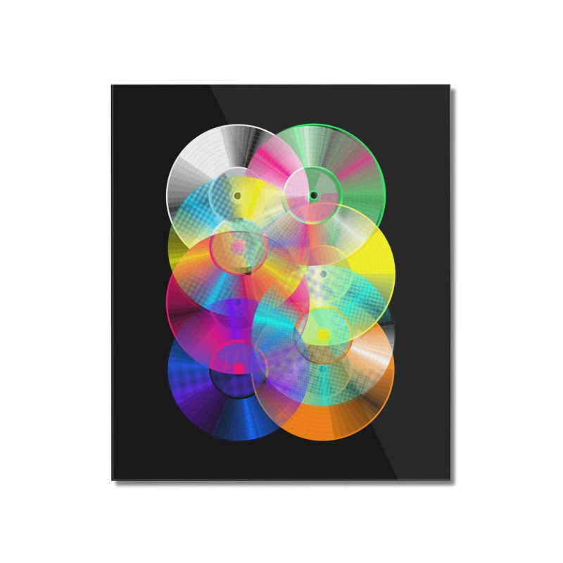 Retro neon colors vinyl Home Mounted Acrylic Print by clingcling's Artist Shop
