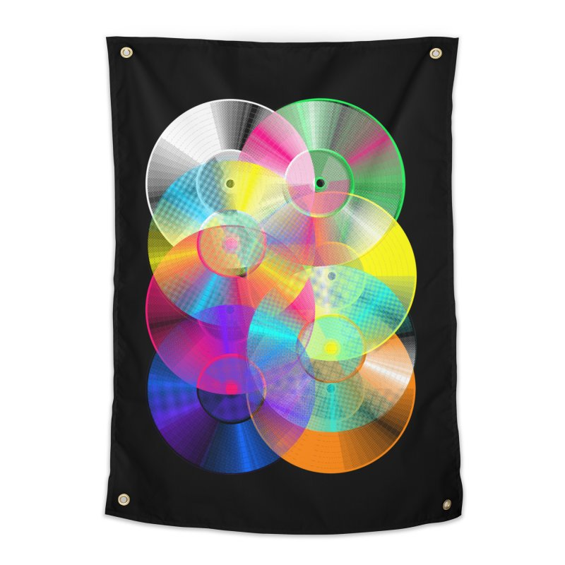 Retro neon colors vinyl Home Tapestry by clingcling's Artist Shop