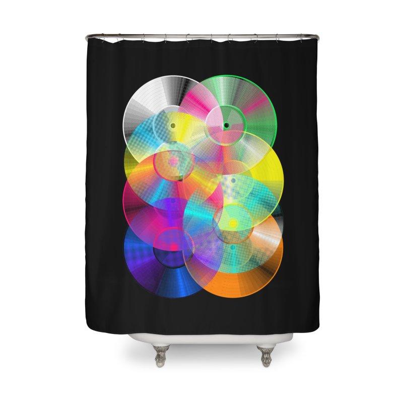 Retro neon colors vinyl Home Shower Curtain by clingcling's Artist Shop