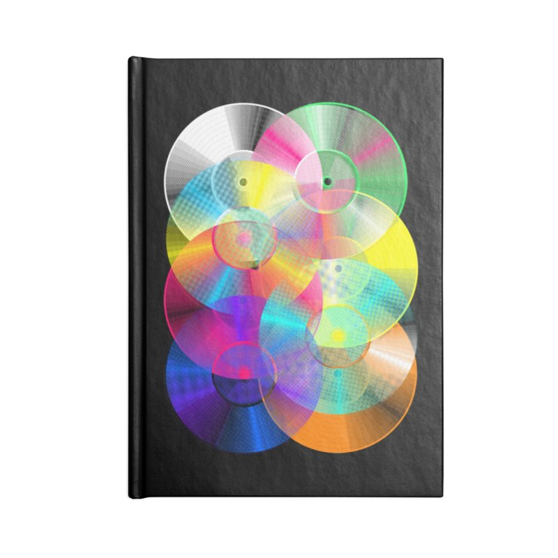 Retro neon colors vinyl Accessories Blank Journal Notebook by clingcling's Artist Shop
