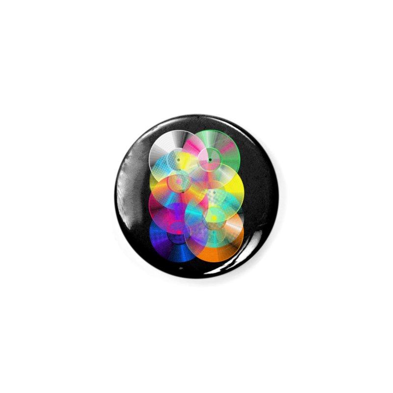 Retro neon colors vinyl Accessories Button by clingcling's Artist Shop