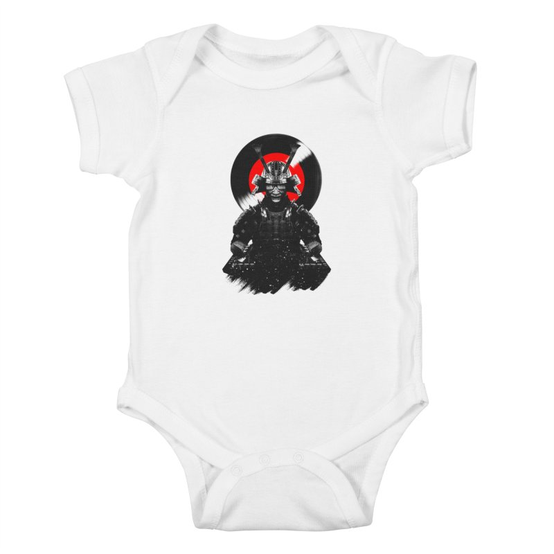 Dj Samurai Kids Baby Bodysuit by clingcling's Artist Shop