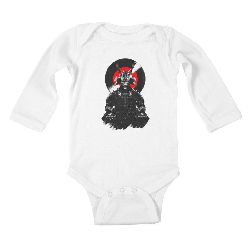 Dj Samurai Kids Baby Longsleeve Bodysuit by clingcling's Artist Shop