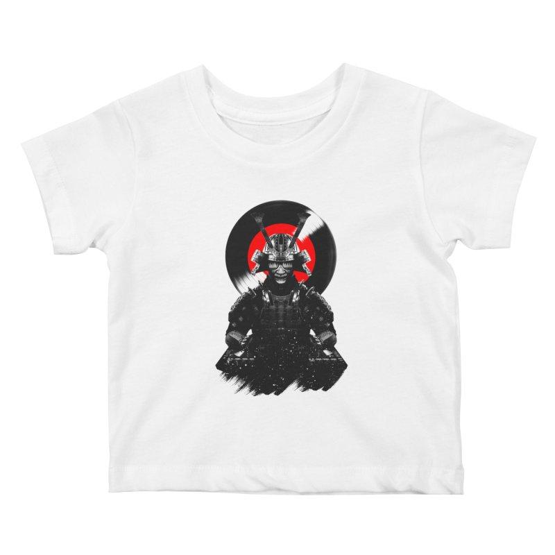 Dj Samurai Kids Baby T-Shirt by clingcling's Artist Shop