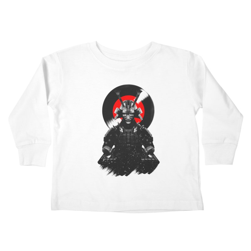 Dj Samurai Kids Toddler Longsleeve T-Shirt by clingcling's Artist Shop
