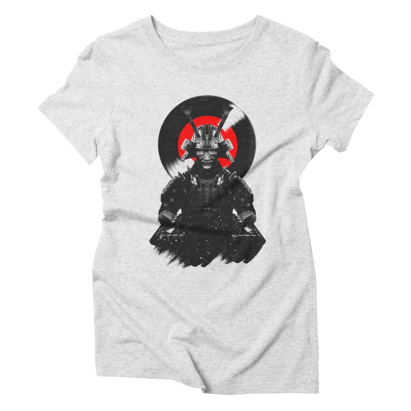 Dj Samurai Women's Triblend T-Shirt by clingcling's Artist Shop