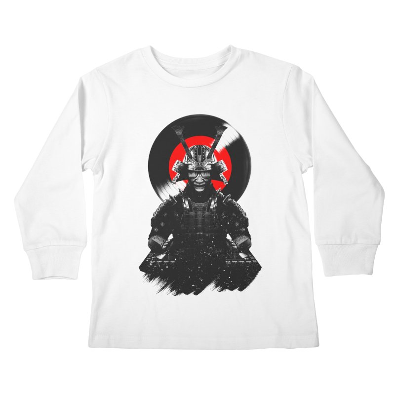 Dj Samurai Kids Longsleeve T-Shirt by clingcling's Artist Shop
