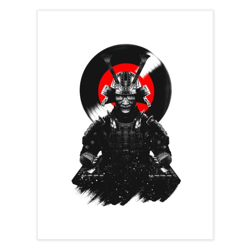 Dj Samurai Home Fine Art Print by clingcling's Artist Shop