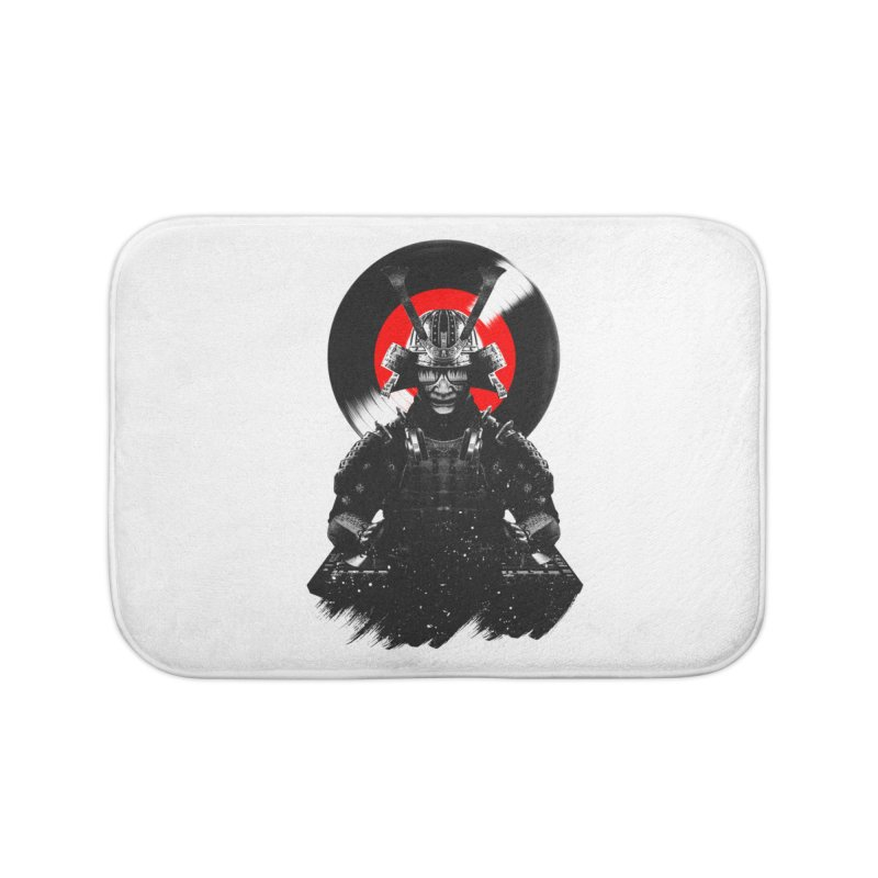 Dj Samurai Home Bath Mat by clingcling's Artist Shop