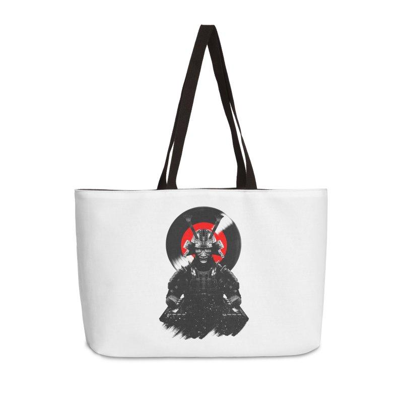 Dj Samurai Accessories Weekender Bag Bag by clingcling's Artist Shop
