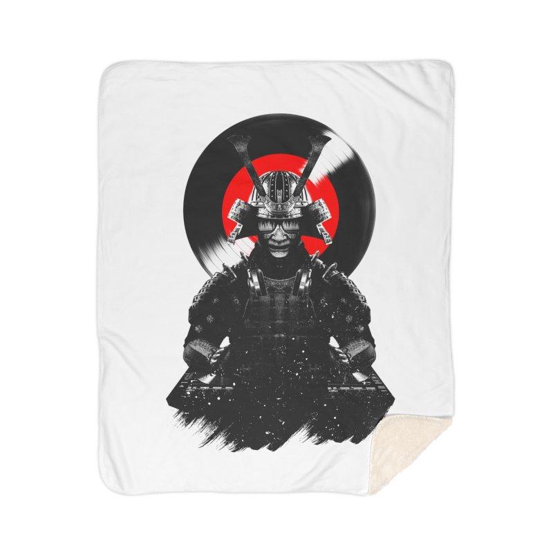 Dj Samurai Home Sherpa Blanket Blanket by clingcling's Artist Shop