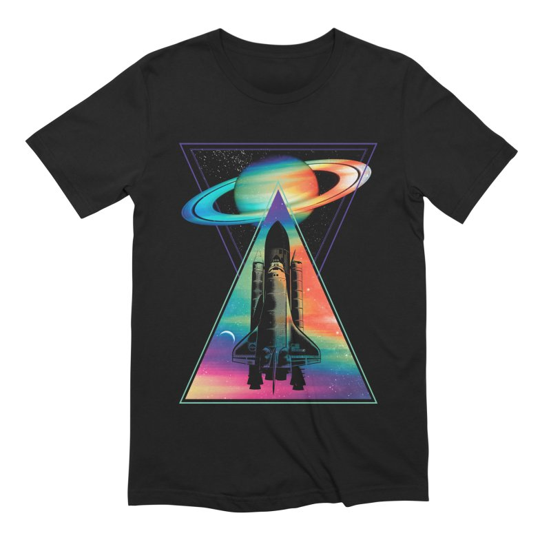 Space shuttle Men's Extra Soft T-Shirt by clingcling's Artist Shop