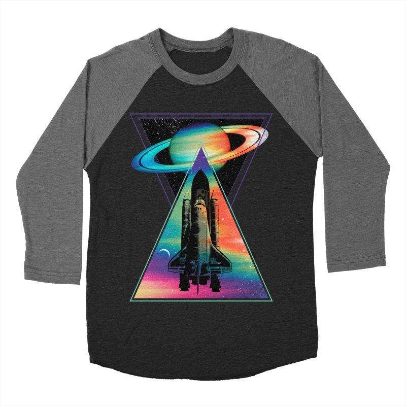 Space shuttle Men's Baseball Triblend Longsleeve T-Shirt by clingcling's Artist Shop