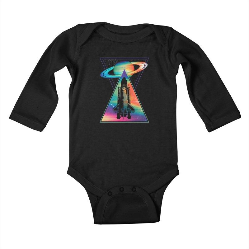 Space shuttle Kids Baby Longsleeve Bodysuit by clingcling's Artist Shop