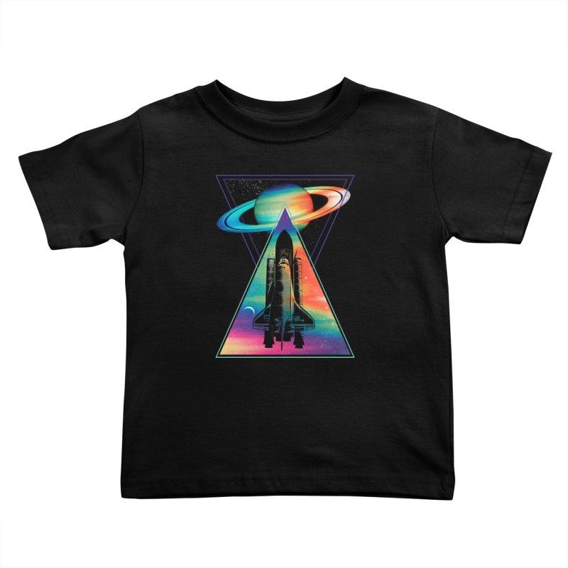 Space shuttle Kids Toddler T-Shirt by clingcling's Artist Shop