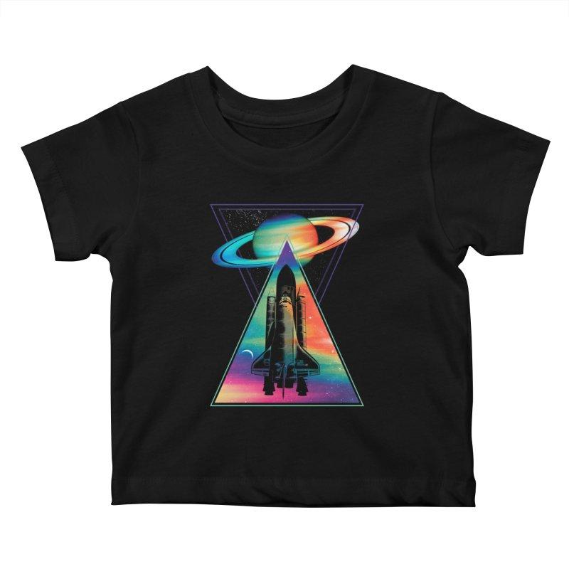 Space shuttle Kids Baby T-Shirt by clingcling's Artist Shop