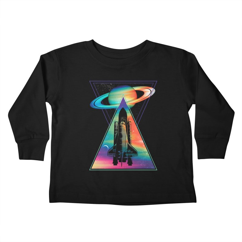 Space shuttle Kids Toddler Longsleeve T-Shirt by clingcling's Artist Shop