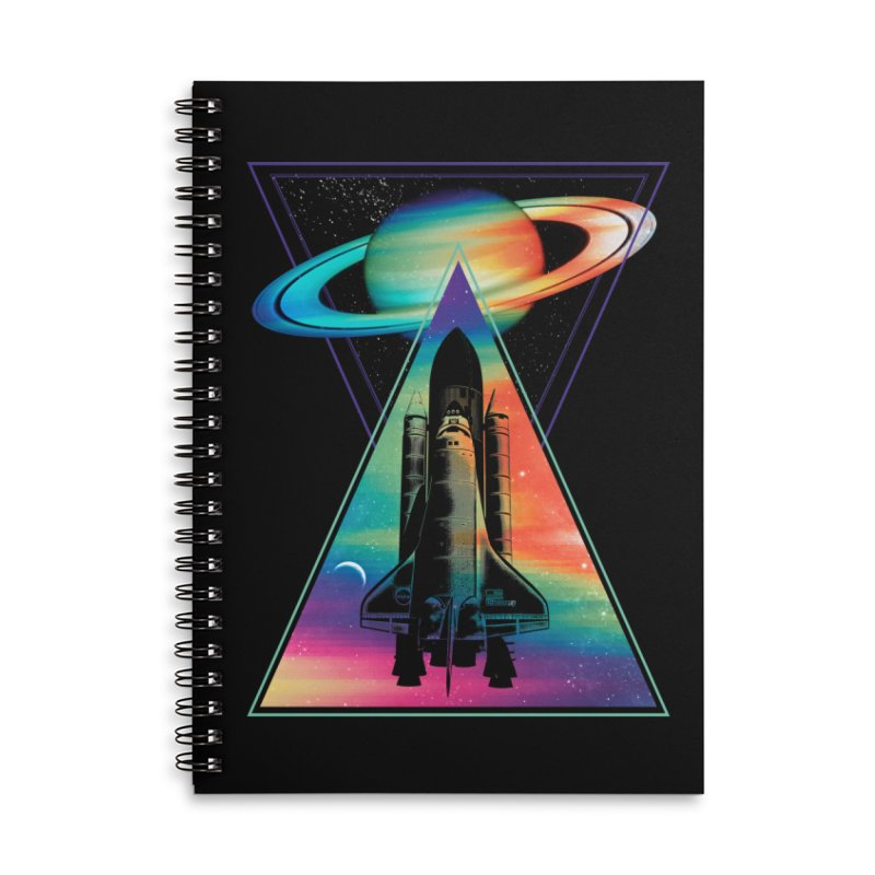 Space shuttle Accessories Lined Spiral Notebook by clingcling's Artist Shop