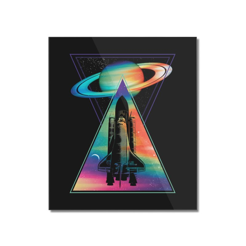 Space shuttle Home Mounted Acrylic Print by clingcling's Artist Shop