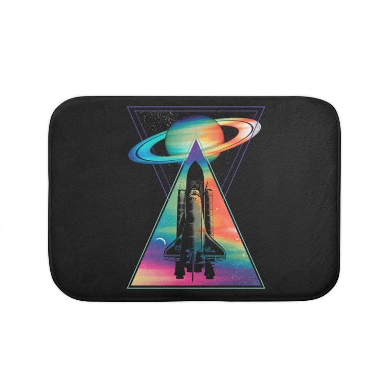 Space shuttle Home Bath Mat by clingcling's Artist Shop