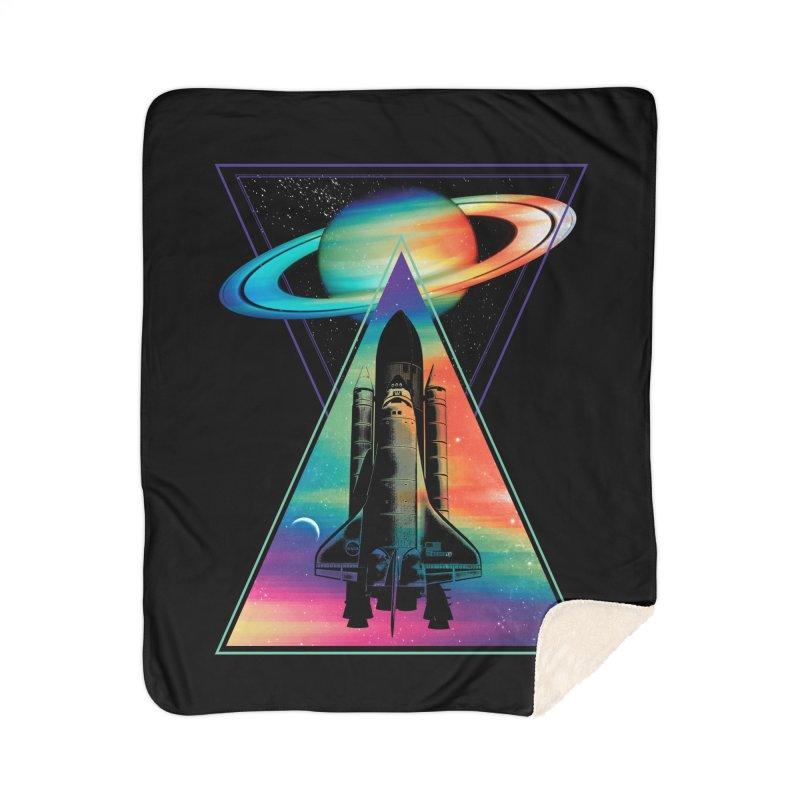 Space shuttle Home Sherpa Blanket Blanket by clingcling's Artist Shop