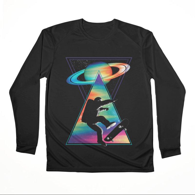 Space skateboarding Men's Performance Longsleeve T-Shirt by clingcling's Artist Shop