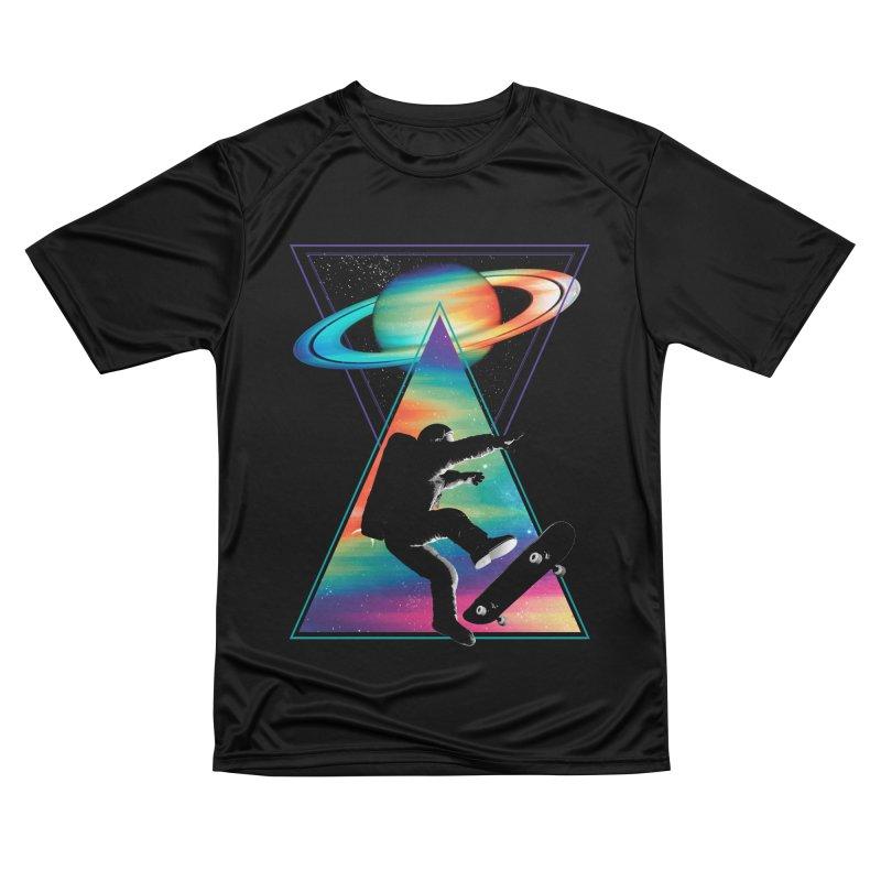 Space skateboarding Women's Performance Unisex T-Shirt by clingcling's Artist Shop