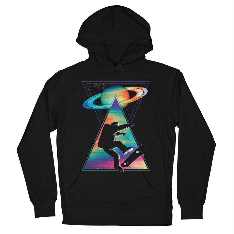 Space skateboarding Men's French Terry Pullover Hoody by clingcling's Artist Shop