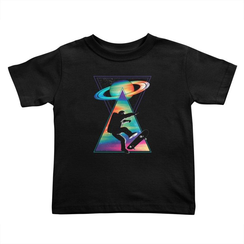 Space skateboarding Kids Toddler T-Shirt by clingcling's Artist Shop
