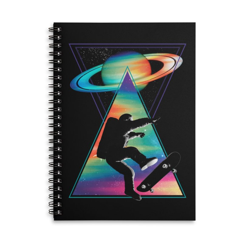 Space skateboarding Accessories Lined Spiral Notebook by clingcling's Artist Shop