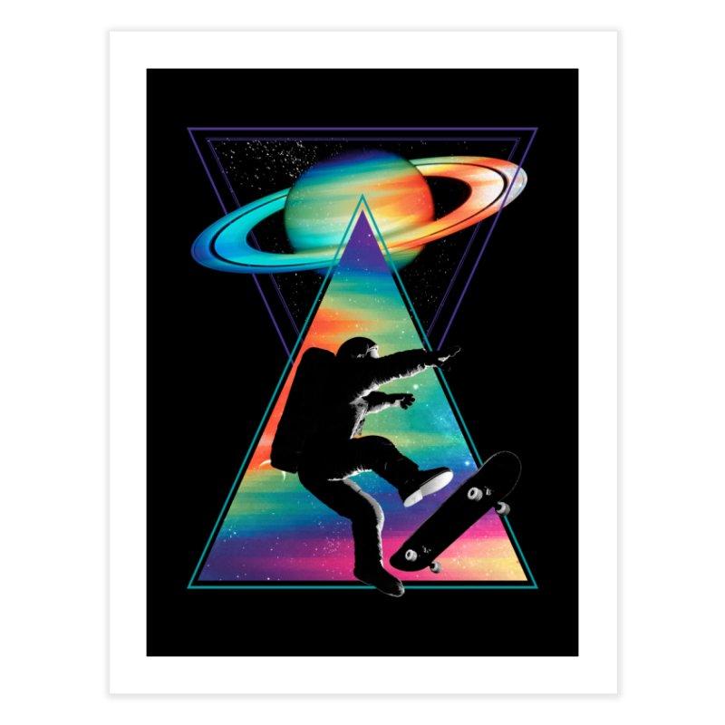 Space skateboarding Home Fine Art Print by clingcling's Artist Shop