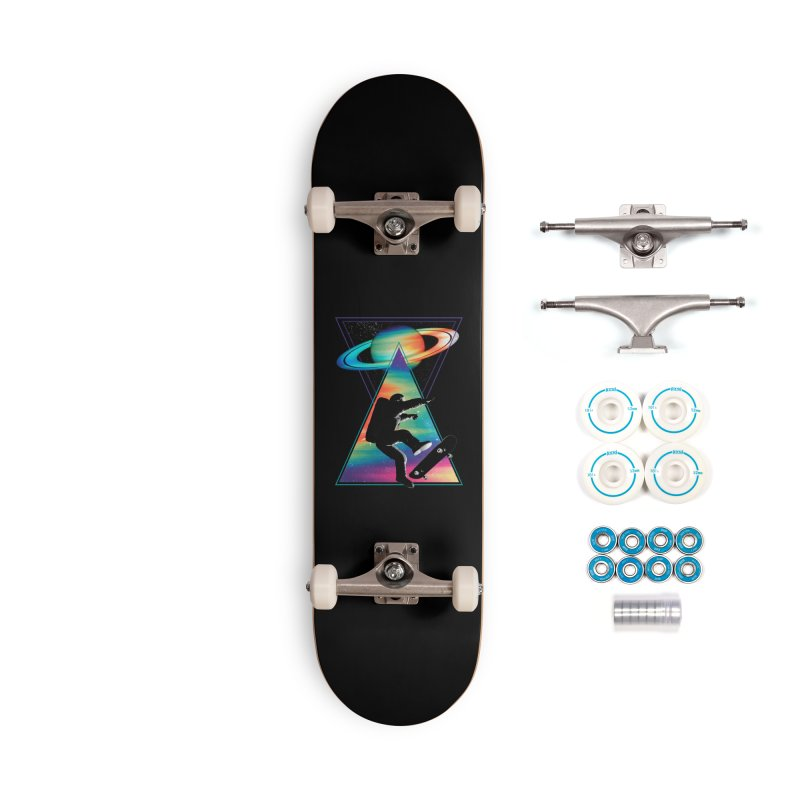 Space skateboarding Accessories Complete - Basic Skateboard by clingcling's Artist Shop