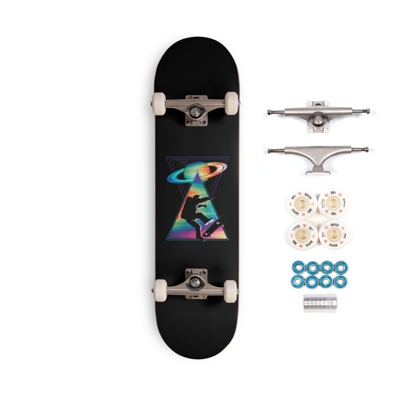 Space skateboarding Accessories Complete - Premium Skateboard by clingcling's Artist Shop