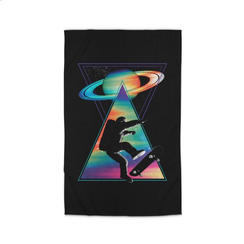 Space skateboarding Home Rug by clingcling's Artist Shop