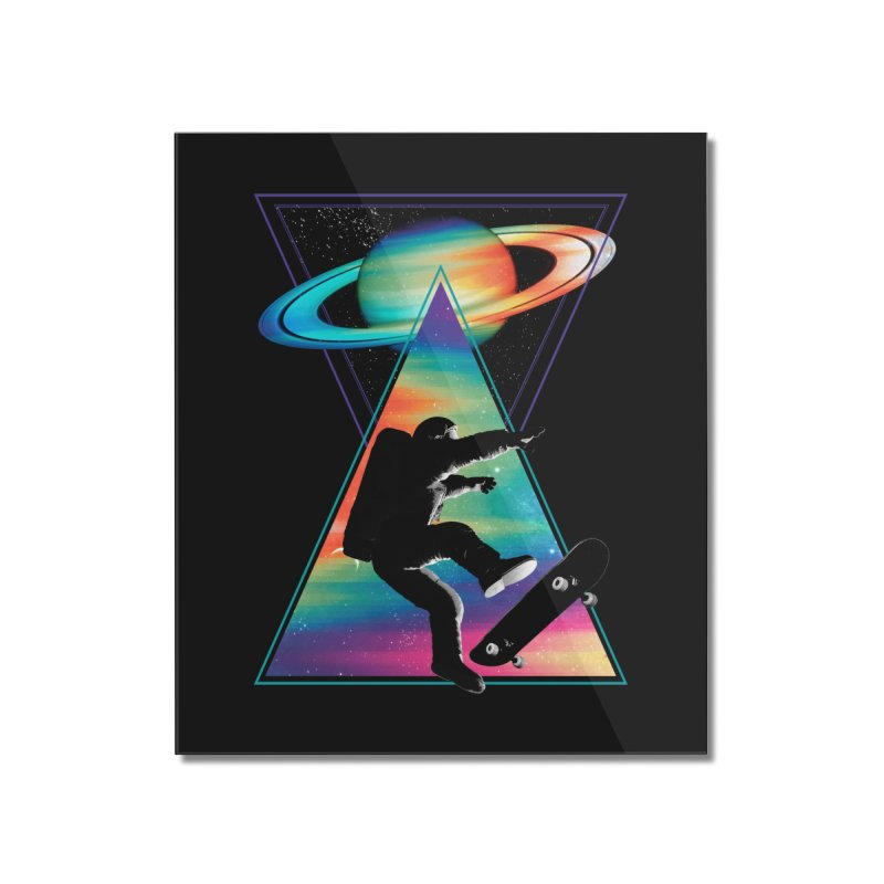Space skateboarding Home Mounted Acrylic Print by clingcling's Artist Shop