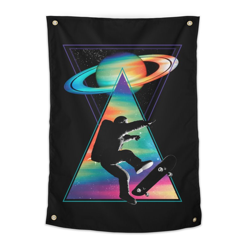 Space skateboarding Home Tapestry by clingcling's Artist Shop