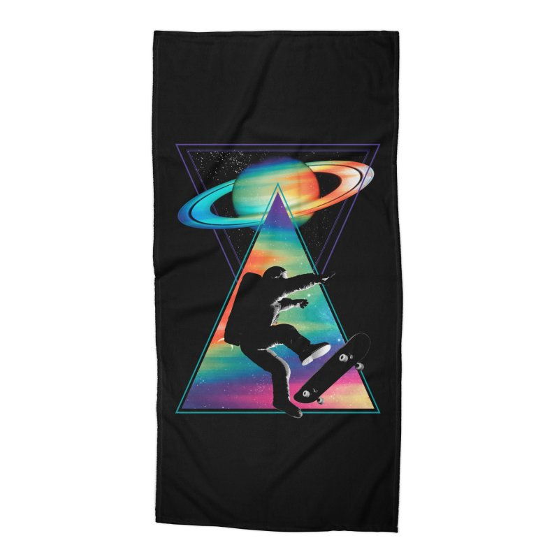 Space skateboarding Accessories Beach Towel by clingcling's Artist Shop