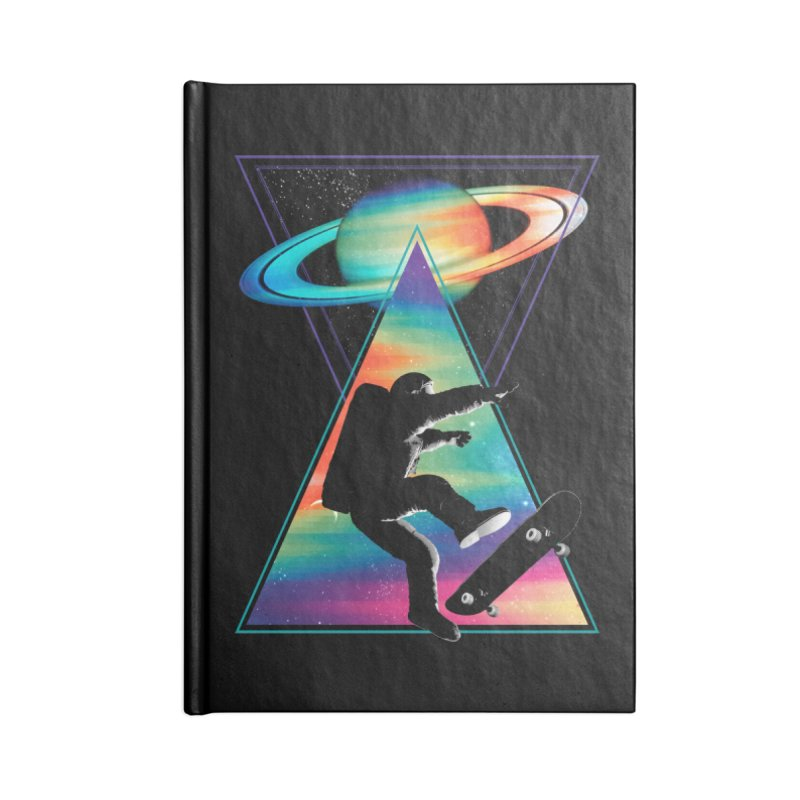 Space skateboarding Accessories Blank Journal Notebook by clingcling's Artist Shop