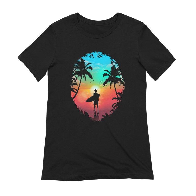 Summer Break Women's Extra Soft T-Shirt by clingcling's Artist Shop