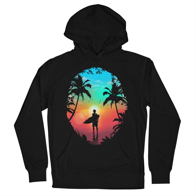 Summer Break Men's French Terry Pullover Hoody by clingcling's Artist Shop