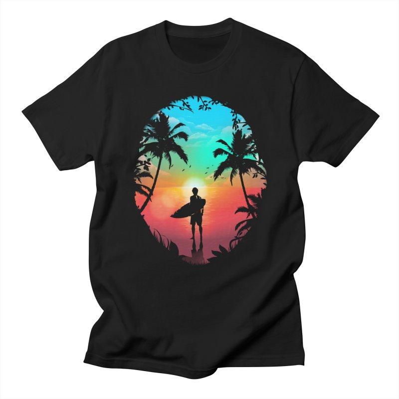 Summer Break Men's Regular T-Shirt by clingcling's Artist Shop